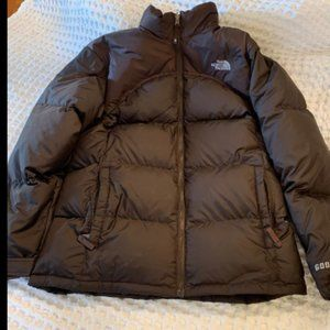 North Face Girls XL Brown Down Puffer Jacket Coat